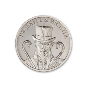 2021 DR. JEKYLL AND MR. HYDE – TYPE II – VINTAGE HORROR SERIES – 1 TROY OUNCE – 39MM