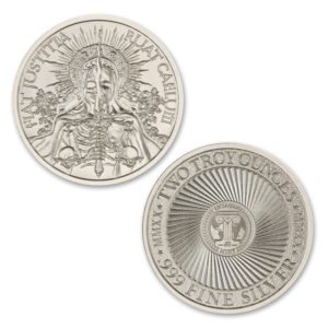 FIAT JUSTITIA RUAT CAELUM – 2 TROY OUNCE – 39MM
