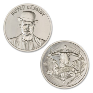BUTCH CASSIDY – 2 TROY OUNCE – 39MM