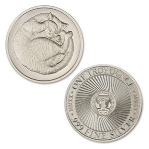 2020 – SLEEPING CAT – 1 TROY OUNCE – 39MM