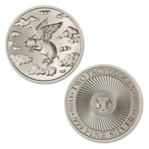 2020 – WHEN PIGS FLY – 2 TROY OUNCE – 39MM