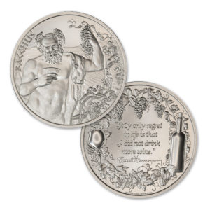 BACCHUS – WINE SERIES – TYPE I – 2 TROY OUNCE – 50MM