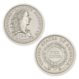 1792 BIRCH ONE CENT TRIBUTE – 2 TROY OUNCE – 39MM