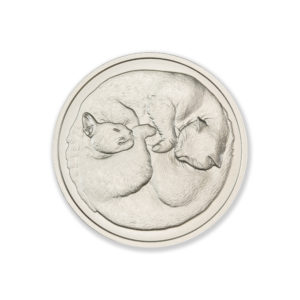 2021 – TWO SLEEPING CATS –  2 TROY OUNCE – 39MM
