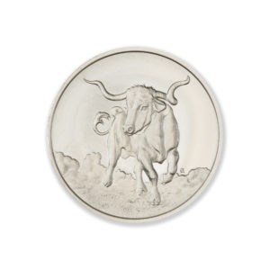 DON'T MESS WITH TEXAS / LONGHORN – 1 TROY OUNCE – 39MM