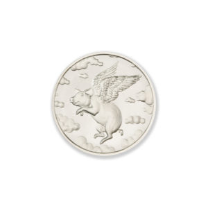 2021 – WHEN PIGS FLY – 1/2 TROY OUNCE – 30MM