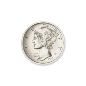 MERCURY DIME TRIBUTE – HIGH RELIEF – 1 TROY OUNCE – 30MM
