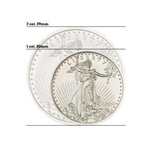 $20 SAINT-GAUDENS – HIGH RELIEF – 1 TROY OUNCE – 30MM