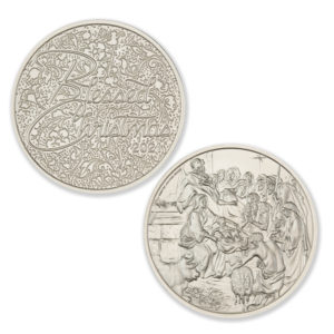 2021 NATIVITY / BLESSED CHRISTMAS -1 TROY OUNCE – 39MM